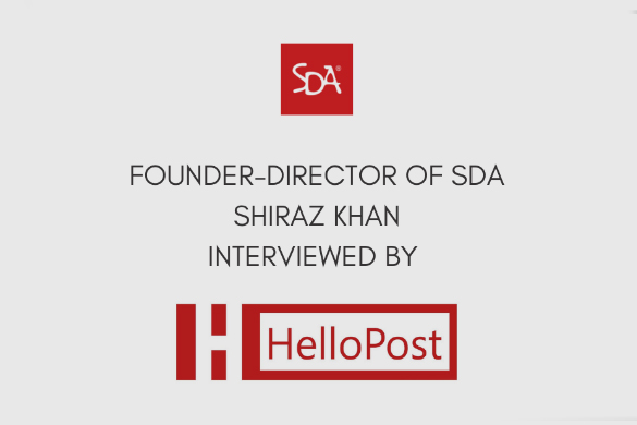 Shiraz Khan interviewed by HelloPost.in